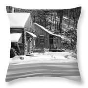 Cabin Fever In Black And White Throw Pillow