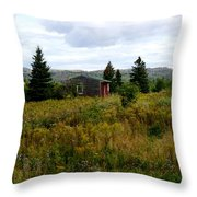 Cabin In Northern Minnesota Throw Pillow