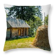 Cabin In The Shadow Throw Pillow