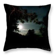 Cabin Moon Throw Pillow