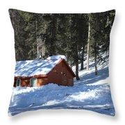 Cabin On Grand Mesa Co Throw Pillow