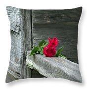 Cabin Rose Throw Pillow