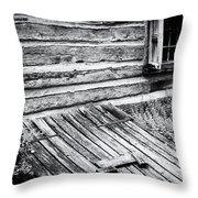 Cabin Shutters Throw Pillow