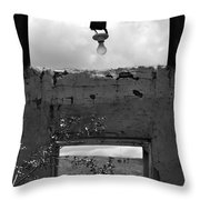 Cabin Window 2 Bw Throw Pillow by Roger Snyder