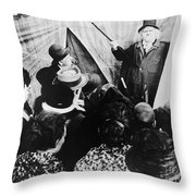 Cabinet Of Dr. Caligari Throw Pillow