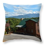 Cabins In The Smokies Throw Pillow