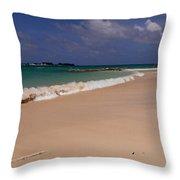 Cable Beach Bahamas Throw Pillow