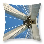 Cable Bridge Abstract Throw Pillow