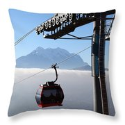 Cable Car Above The Andes Throw Pillow