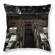 Cable Car Barn In San Francisco Throw Pillow