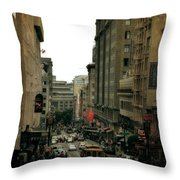 Cable Car In The City Throw Pillow