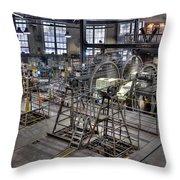 Cable Car Museum San Francisco Throw Pillow