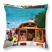 Cable Car No. 17 Throw Pillow by Mike Robles