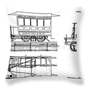 Cable Car Patent, 1873 Throw Pillow