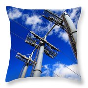 Cable Car Pillars Throw Pillow