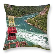 Cable Car Whitewater Throw Pillow