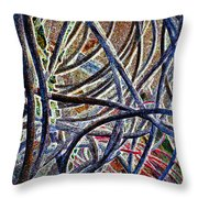 Cable Jungle Throw Pillow
