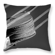 Cables And Pulleys Throw Pillow