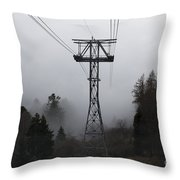 Cableway Tower Throw Pillow