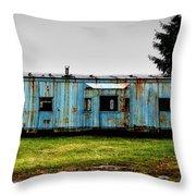 Caboose On A Farm Throw Pillow