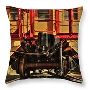 Caboose On The Loose Throw Pillow