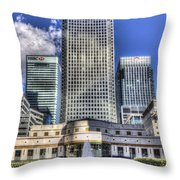 Cabot Square London Throw Pillow