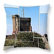 Cabot Tower Montage Throw Pillow