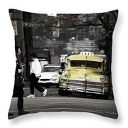Cabs Here Throw Pillow