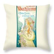 Cacao Van Houten Throw Pillow