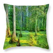 Cache River Swamp Throw Pillow