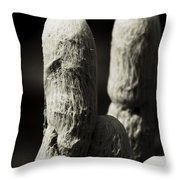 Cacti Ghost B And W  Throw Pillow