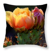 Cactus Blossom Throw Pillow
