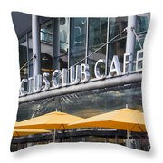 Cactus Club Cafe Vancouver Throw Pillow