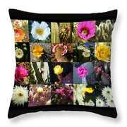 Cactus Collage Throw Pillow