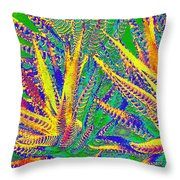 Cactus Fiesta Throw Pillow