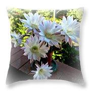 Cactus Flower Perfection Throw Pillow