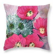 Cactus Flowers I Throw Pillow