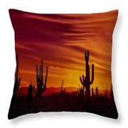 Cactus Glow Throw Pillow