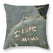 Cactus In Belle Isle Throw Pillow