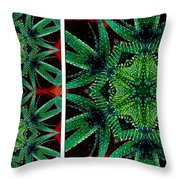 Cactus Triptych Throw Pillow