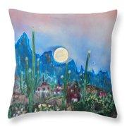 Cactus Valley Throw Pillow