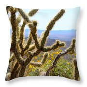 Cactus View Throw Pillow