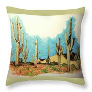 Cactus With A 'tude Throw Pillow