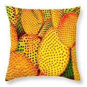 Cactus With Sunset Glow Throw Pillow