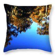 Caddo Lake Reflections Throw Pillow