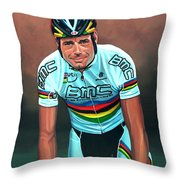 Cadel Evans Throw Pillow