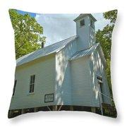 Cades Cove Baptist Church Throw Pillow