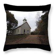 Cades Cove Church Throw Pillow