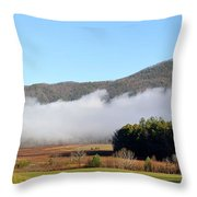 Cades Cove Fields Throw Pillow