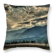 Cades Cove Hdr Spring 2014 Throw Pillow